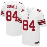 Nike New York Giants #84 Larry Donnell White Men\'s Stitched NFL Elite Jersey