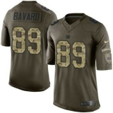Nike New York Giants #89 Mark Bavaro Green Men\'s Stitched NFL Limited Salute to Service Jersey