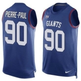 Nike New York Giants #90 Jason Pierre-Paul Royal Blue Team Color Men\'s Stitched NFL Limited Tank Top Jersey