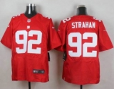 Nike New York Giants #92 Michael Strahan Red Alternate Men\'s Stitched NFL Elite Jersey