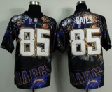 Nike San Diego Chrgers #85 Antonio Gates Team Color NFL Elite Fanatical Version Jersey