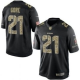 San Francisco 49ers #21 Frank Gore Nike Black Salute To Service Jersey