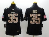 San Francisco 49ers #35 Eric Reid Nike Black Salute To Service Jersey