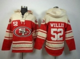 San Francisco 49ers #52 Patrick Willis Red Sawyer Hooded Sweatshirt Stitched Jersey