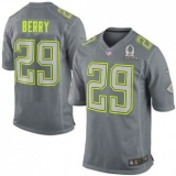 New Chiefs #29 Eric Berry Grey 2014 Pro Bowl NFL Elite Team Sanders Jersey