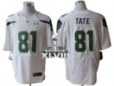 NEW Seahawks #81 Golden Tate White Super Bowl XLVIII NFL Elite Jersey