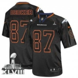 NEW Broncos #87 Eric Decker Lights Out Black Super Bowl XLVIII NFL Elite Jerseys