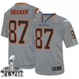 NEW Broncos #87 Eric Decker Lights Out Grey Super Bowl XLVIII NFL Elite Jerseys