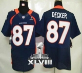 NEW Broncos #87 Eric Decker Navy Blue Alternate Super Bowl XLVIII NFL Elite Jerseys