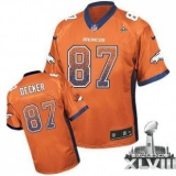 NEW Broncos #87 Eric Decker Orange Team Color Super Bowl XLVIII NFL Elite Drift Fashion Jerseys