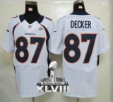 NEW Broncos #87 Eric Decker White Super Bowl XLVIII NFL Elite Jerseys