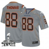 NEW Broncos #88 Demaryius Thomas Lights Out Grey Super Bowl XLVIII NFL Elite Jerseys
