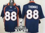 NEW Broncos #88 Demaryius Thomas Navy Blue Alternate Super Bowl XLVIII NFL Limited Jerseys