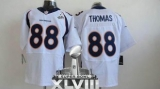 NEW Broncos #88 Demaryius Thomas White Super Bowl XLVIII NFL Jerseys