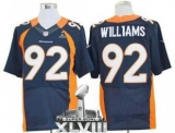 NEW Broncos #92 Sylvester Williams Navy Blue Alternate Super Bowl XLVIII NFL Elite Jerseys