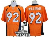 NEW Broncos #92 Sylvester Williams Orange Team Color Super Bowl XLVIII NFL Elite Jerseys