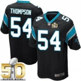 Youth Nike Panthers #54 Shaq Thompson Black Team Color Super Bowl 50 Stitched NFL Elite Jersey