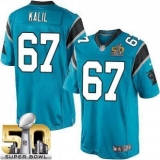 Youth Nike Panthers #67 Ryan Kalil Blue Alternate Super Bowl 50 Stitched NFL Elite Jersey