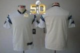 Youth Nike Panthers Blank White Super Bowl 50 Stitched NFL Limited Jersey