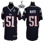 Youth Nike Patriots #51 Jerod Mayo Navy Blue Team Color Super Bowl XLIX Stitched NFL Elite Jersey