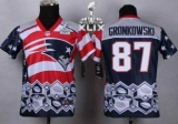 Youth Nike Patriots #87 Rob Gronkowski Navy Blue Super Bowl XLIX Stitched NFL Elite Noble Fashion Jersey