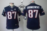 Youth Nike Patriots #87 Rob Gronkowski Navy Blue Team Color Super Bowl XLIX Stitched NFL Limited Jerseys