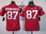 Youth Nike Patriots #87 Rob Gronkowski Red Alternate Super Bowl XLIX Stitched NFL Elite Jerseys
