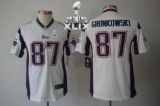 Youth Nike Patriots #87 Rob Gronkowski White Super Bowl XLIX Stitched NFL Limited Jersey
