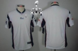 Youth Nike Patriots Blank White Super Bowl XLIX Stitched NFL Limited Jersey