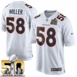Youth Nike Broncos #58 Von Miller White Super Bowl 50 Stitched NFL Game Event Jersey