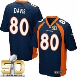 Youth Nike Broncos #80 Vernon Davis Blue Alternate Super Bowl 50 Stitched NFL New Elite Jersey