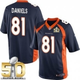 Youth Nike Broncos #81 Owen Daniels Blue Alternate Super Bowl 50 Stitched NFL New Elite Jersey