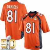 Youth Nike Broncos #81 Owen Daniels Orange Team Color Super Bowl 50 Stitched NFL New Elite Jersey