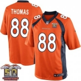 Youth Nike Broncos #88 Demaryius Thomas Orange NFL Home Super Bowl 50 Champions Elite Jersey
