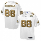 Youth Nike Broncos #88 Demaryius Thomas White NFL Pro Line Super Bowl 50 Fashion Game Jersey