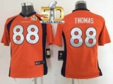 Youth Nike Broncos #88 Demaryius Thomas Orange Team Color Super Bowl 50 Stitched NFL New Elite Jersey