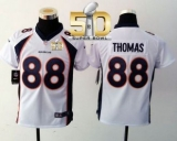 Youth Nike Broncos #88 Demaryius Thomas White Super Bowl 50 Stitched NFL Elite Jersey