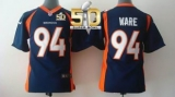 Youth Nike Broncos #94 DeMarcus Ware Blue Alternate Super Bowl 50 Stitched NFL New Elite Jersey