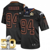 Youth Nike Broncos #94 DeMarcus Ware Lights Out Black Super Bowl 50 Stitched NFL Elite Jersey