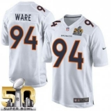 Youth Nike Broncos #94 DeMarcus Ware White Super Bowl 50 Stitched NFL Game Event Jersey