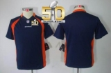 Youth Nike Broncos Blank Blue Alternate Super Bowl 50 Stitched NFL Limited Jersey