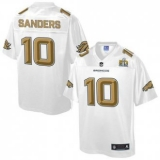 Youth Nike Denver Broncos #10 Emmanuel Sanders White NFL Pro Line Super Bowl 50 Fashion Game Jersey