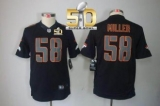 Youth Nike Denver Broncos #58 Von Miller Black Impact Super Bowl 50 Stitched NFL Limited Jersey