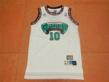 Grizzly #10 Mike Bibby white acura mesh Fan edition
