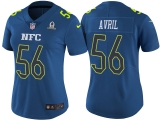 WOMEN\'S NFC 2017 PRO BOWL SEATTLE SEAHAWKS #56 CLIFF AVRIL BLUE GAME JERSEY