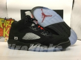 "(Not in stock)Super Max Perfect Air Jordan 5retro ""Black- Silver"