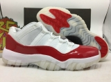 "Air Jordan 11 Low ""White/Red"" AAA"