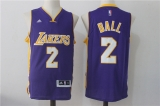 Los Angeles Lakers #2  purple new NBA Jersey