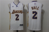 Los Angeles Lakers #2  white new NBA Jersey