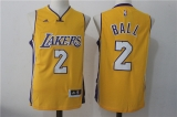 Los Angeles Lakers #2  yellow new NBA Jersey